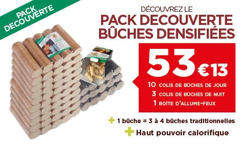 Pack Découverte - Bûches densifiées - Testez les bienfaits des bûches prêtes à l'emploi !