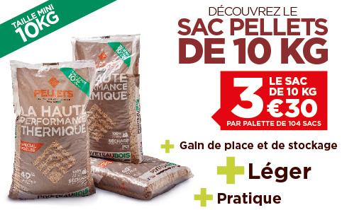Le sac de granulés de bois de 10 Kg de PIVETEAUBOIS